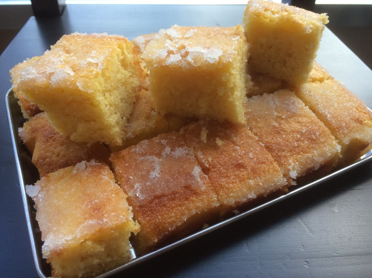 Ultimate Lemon Drizzle Traybake