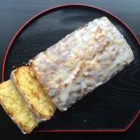 Glazed Lemon Almond Loaf Cake