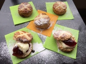 Hot Cross Fruit Scones