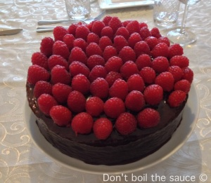 Dont boil the sauce Great British Bake Off Chocolate and Raspberry cake