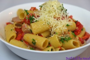 Spicy Capsicum and Bacon Pasta Dont Boil The Sauce