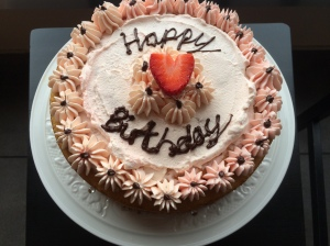 Strawberry Birthday Cake S&C