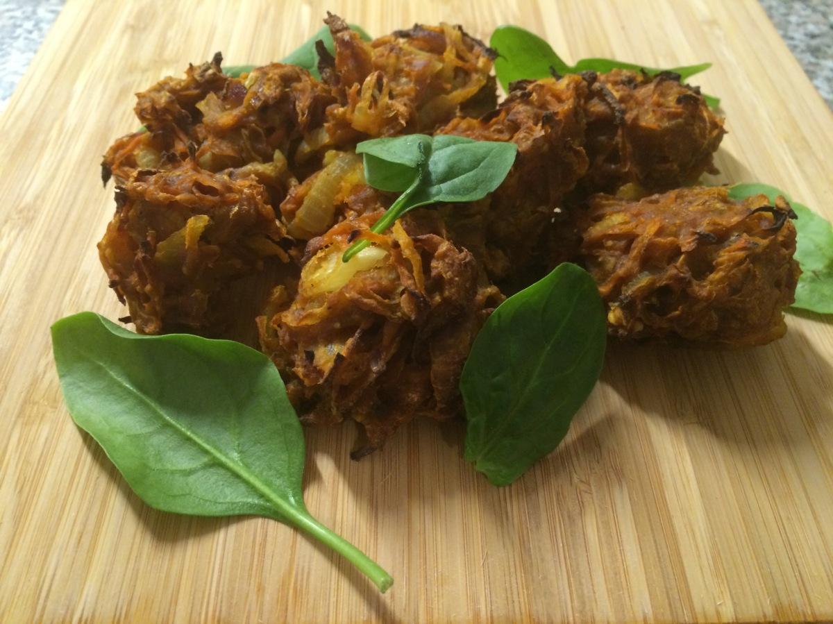 Carrot and Onion Bhajis