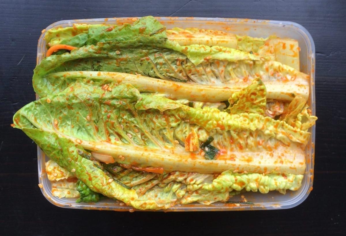 Romaine Lettuce Kimchi