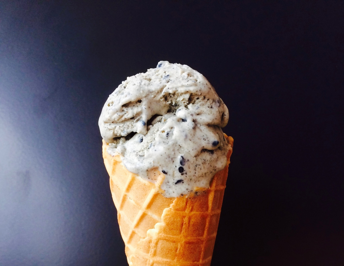 No Churn Black Sesame Ice Cream