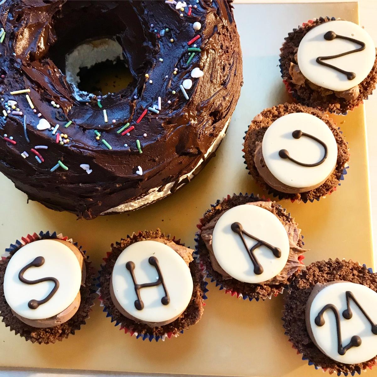 Giant Chocolate Doughnut Birthday Cake