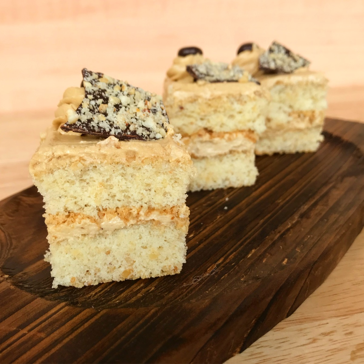 Hazelnut and Coffee Traybake